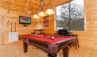 Cabin with pool table and games