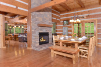 Appalachian Escape cabin Open concept dining room