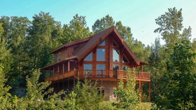 Rent Ridge View Lodge Smoky Mountains log timber cabin sleeps 16