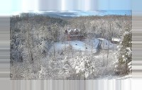 Blue Mountain Lodge gatlinburg cabin after snowfall